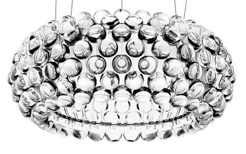 lampara techo acrilica cristales
