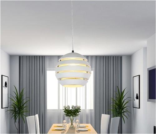 Lampara Colgante Cocina | Lampara Colgante Aluminio Blanco Presumedetucasa