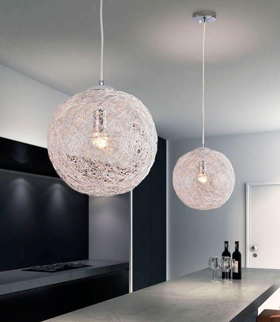 Pin lamparas bola aluminio modernas on pinterest - Como hacer lamparas de techo modernas ...